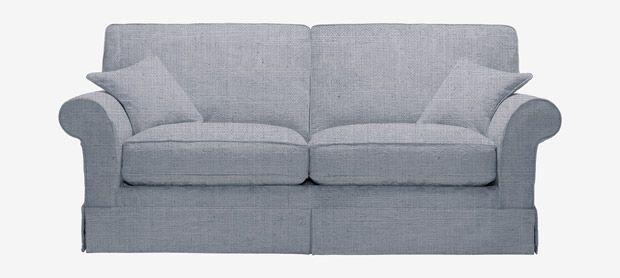 Eva large sofa bed with removable covers in House Brushed Cotton cloud