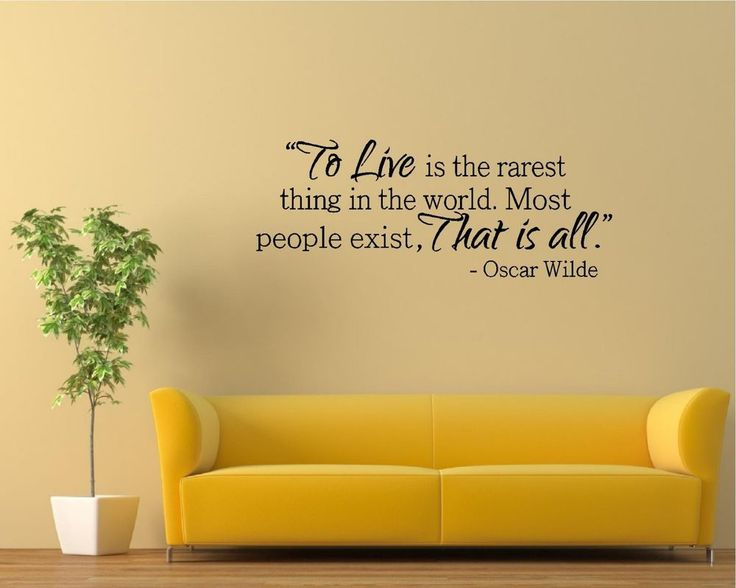 89 best famous vinyl wall decal quotes images on pinterest for Art and decoration oscar wilde
