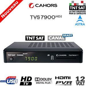 Le décodeur TNT sat Cahors TVS 7900HD2 permet la réception des programmes de la TNT HD par le biais d'une antenne parabolique orienter astra 19.2°
