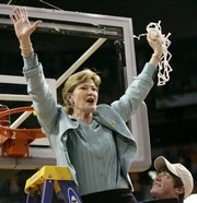 Pat Summitt cuts down another net after a win. Wednesday night Summitt and her son, Tyler, will attend the ESPY Awards in Los Angeles.  http://www.knoxville.com/news/2012/jul/10/terry-morrow-pat-summitt-steps-into-spotlight/?preventMobileRedirect=1