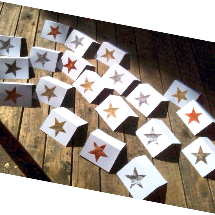 'Starlight, star-bright' A Metallicus Christmas in copper, gold + oxidised silver ➕one industrial Christmas cards individually hand-painted stars onto recycled white card using eco-friendly water based metallic paints. Claire Webber, Hobart, Tasmania