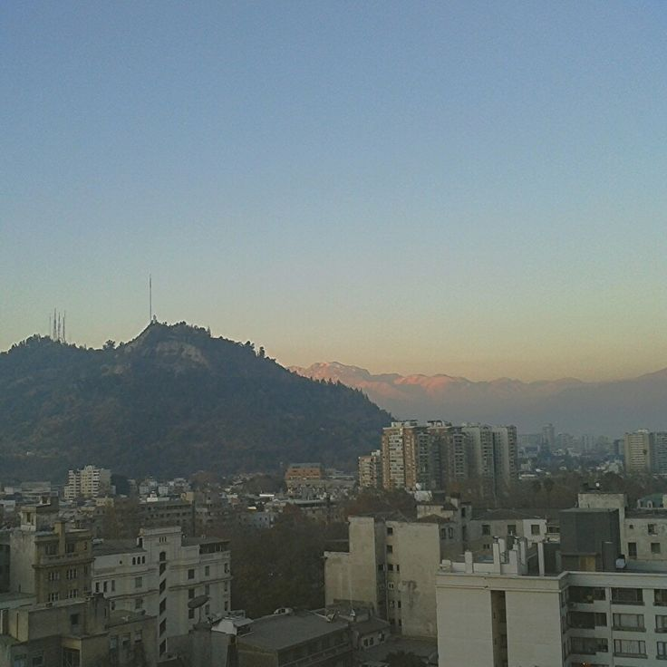 View of Cerro San Cristóbal in Santiago, Chile