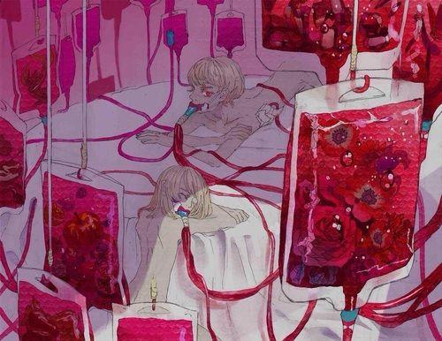 Dark anime boys medical Guro hospital