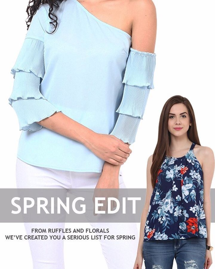 Hello Spring!!🌺🌻🌼🌸🌺 #springstyles #ruffles #frills #florals #pastels #ss17 #comingsoon #getthesenow #onlineshopping #ridress