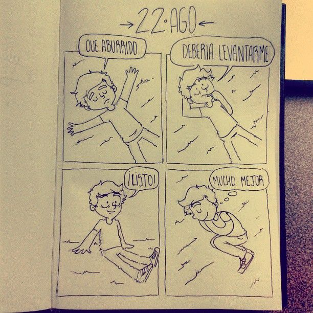 22 AGO - Daily Comic - la flojera infinita #dailycomic #sketchbook #sketch #comic #doodle #elbocetoaleatorio