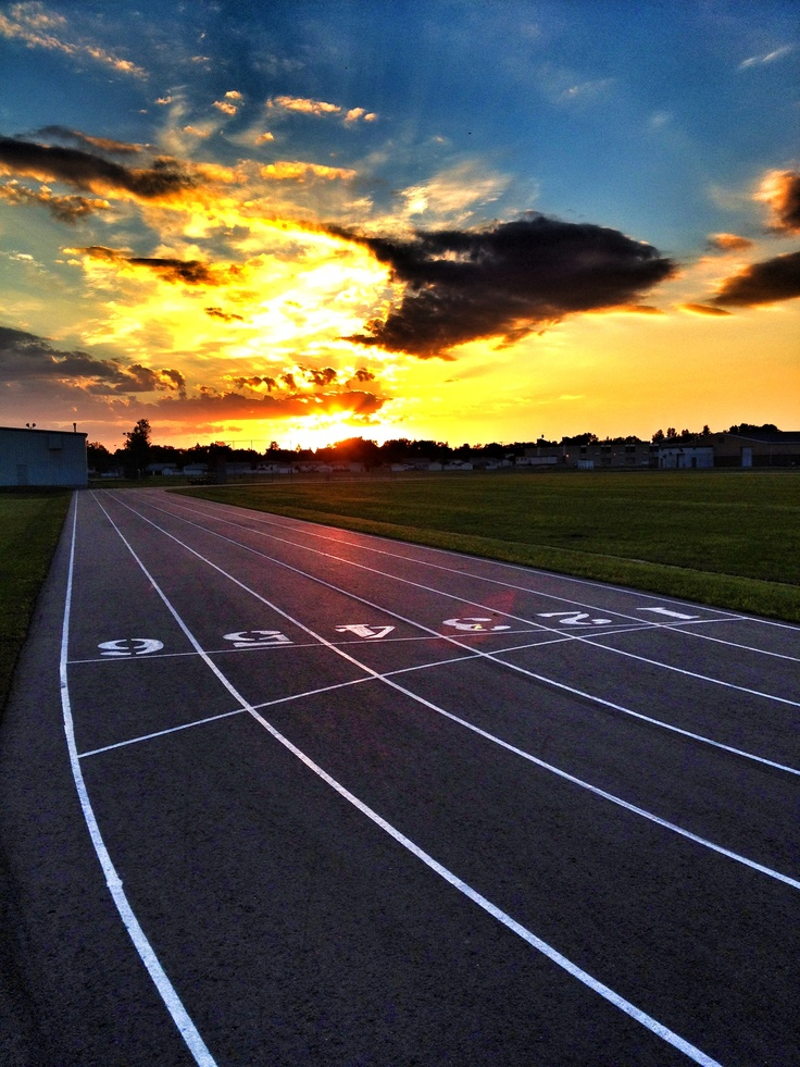 The track behind Westwood Collegiate in Winnipeg. It was a gorgeous night for pics.