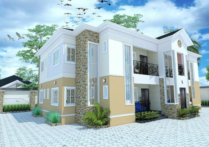 How Many Bedroooms Can Fit In A Half Plot Of Land Lagos Properties 2 Nigeria In 2020 Architectural House Plans House Plan Gallery Beautiful House Plans