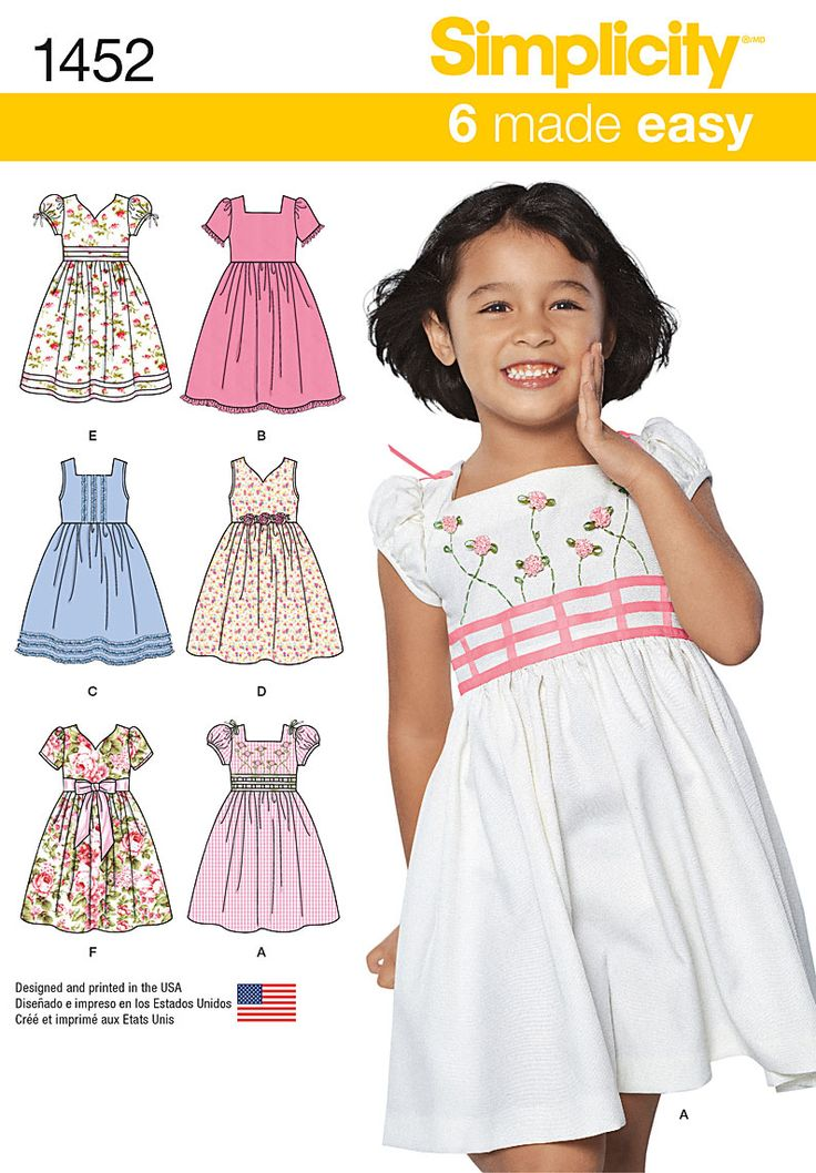 Simplicity 3-4-5-6-7--Child DressesSimplicity 3-4-5-6-7--Child Dresses,