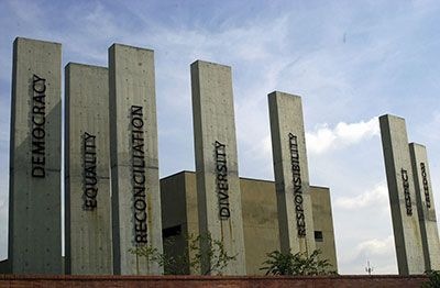 The half day guided tour of the Apartheid Museum teaches you about South Africa's dark past but also shines a light on the bright future that lies ahead for the Rainbow Nation.