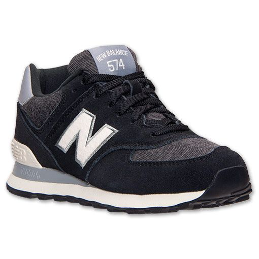 new balance 574 black grey white living