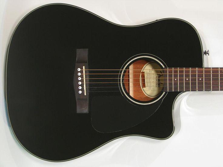 Fender CD60CE Acoustic-Electric Guitar Black with HSC - https://magemusiconline.com/product/fender-cd60ce-acoustic-electric-guitar-black-with-hsc/