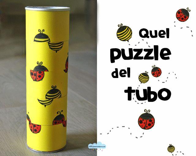 Quandofuoripiove: riciclare il cartone: il puzzle del tubo