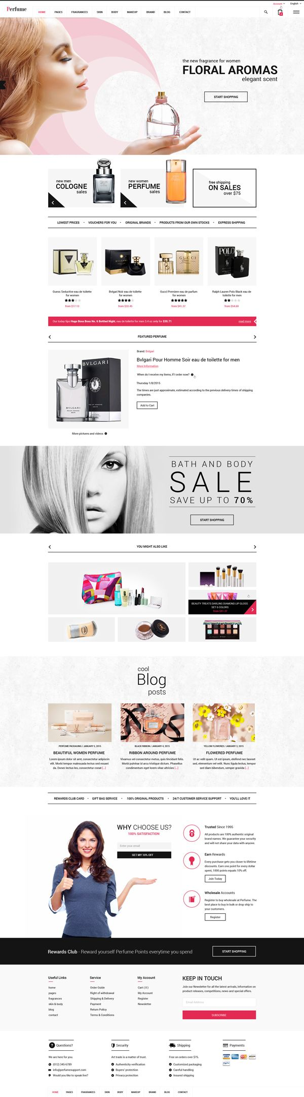 Perfume - Woocommerce WordPress Theme #html5themes #responsivedesign #wordpressthemes #html5templates