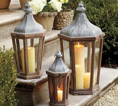 Park Hill Lantern #potterybarnLights, Potterybarn, Outdoor Candles, Parks, Outdoor Gardens, Lanterns, Pottery Barns, Front Porches, Front Step