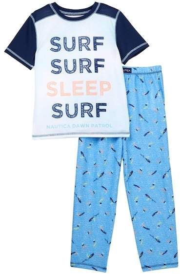 366c1cb3fdc0 Nautica Surf Surf Sleep Surf 2-Piece Pajamas (Little Boys   Big Boys ...