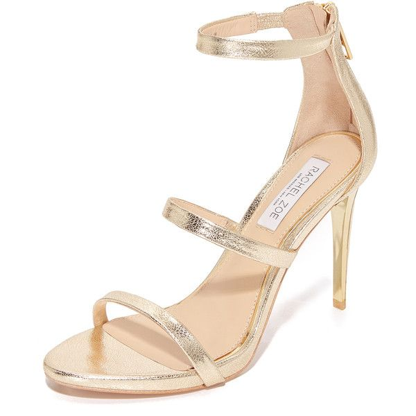 Rachel Zoe Viv Sandals (€280) ❤ liked on Polyvore featuring shoes, sandals, high heeled footwear, rachel zoe sandals, elastic-strap sandals, leather sole shoes and strappy high heel sandals