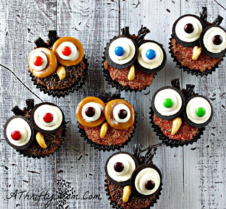 halloween cupcakes cute cupcake ideas owl cupcakes how to make owl cupcakes
