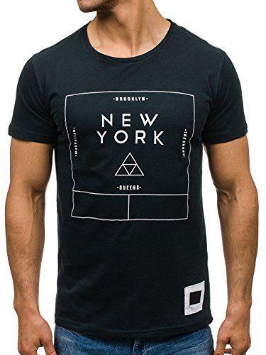 94cbb2d852ca Amazon BOLF Herren T-Shirt Tee Kurzarm mit Print Casual Athletic 1119  Schwarz S  3C3    05902646639703 in 2019   Mode für Männer   Pinterest