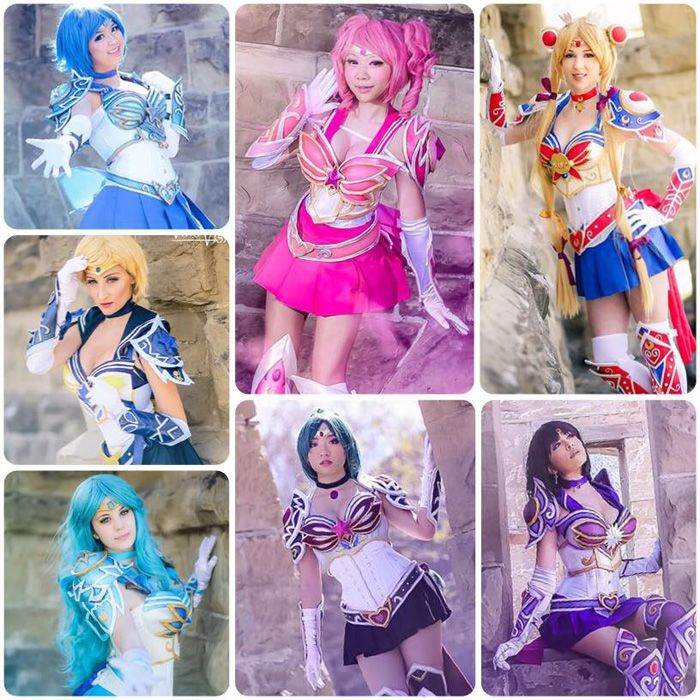 Battle Armor Sailor Scouts from Sailor Moon Cosplay