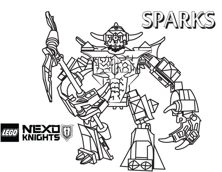 Nexo LEGO Knights Coloring Pages