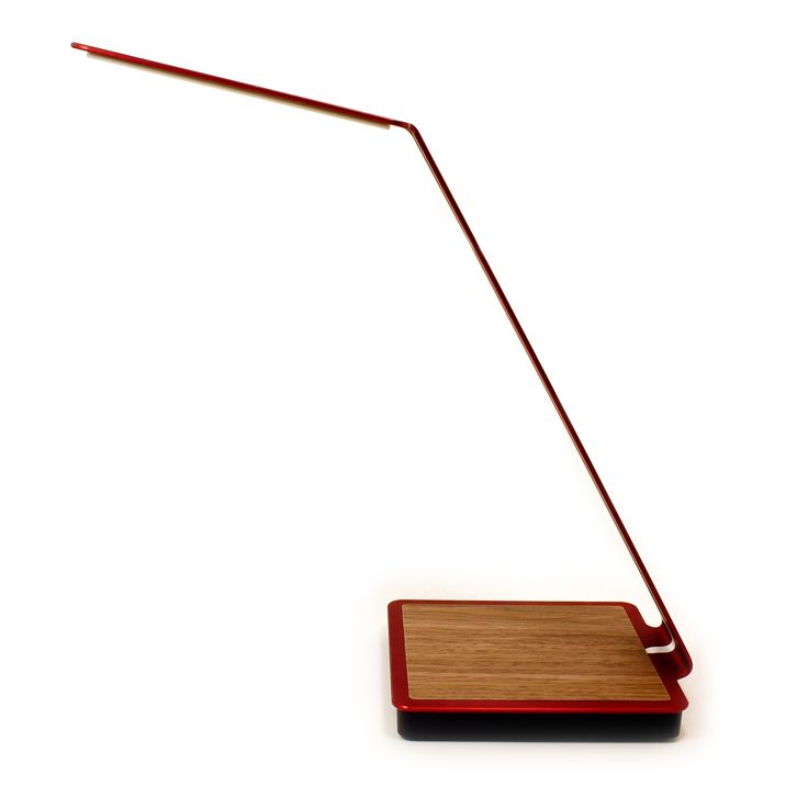 Aerelight A1 OLED Desk Lamp with Touch Control and Wireless Charging - Brushed Red