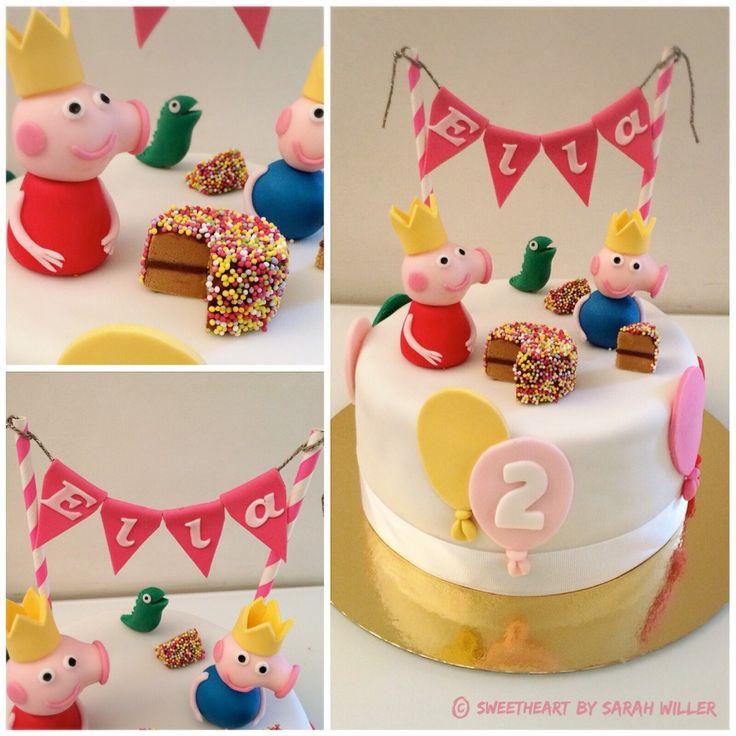 peppa pig cake plus