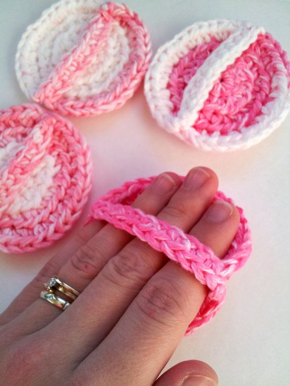 Face scrubbies with handle set of 4 eco friendly by silvashop, $7.00
