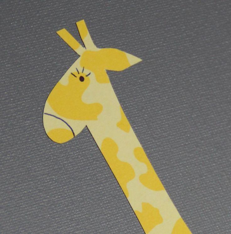 Toile grise Girafe Jaune - Décoration murale