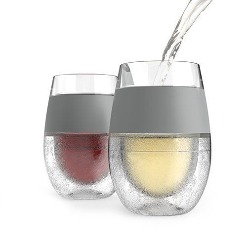 The Freeze Cooling Wine Glass is designed with cooling gel in the stemless…