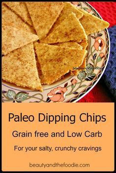 Paleo Dipping chips are a paleo substitute for chips. Great for dipping in your favorite salsa, guacamole, or dips. Seasoned with Mexican spices. They are also very low carb.