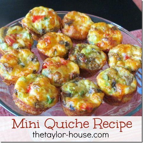Mini chicken and spinach quiche recipe