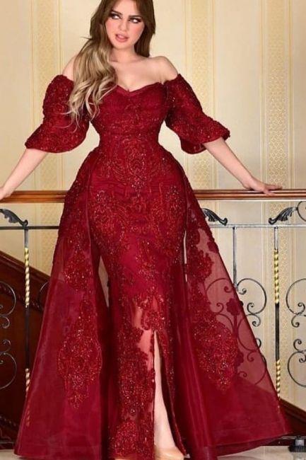 designer abendkleider mit aermel rote abiballkleider mit