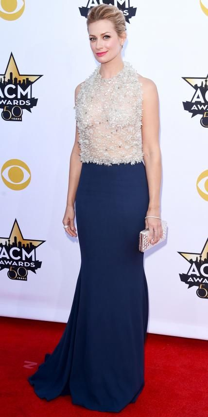 Best Looks from the 2015 Academy of Country Music Awards - Beth Behrs from #InStyle #harrykotlar
