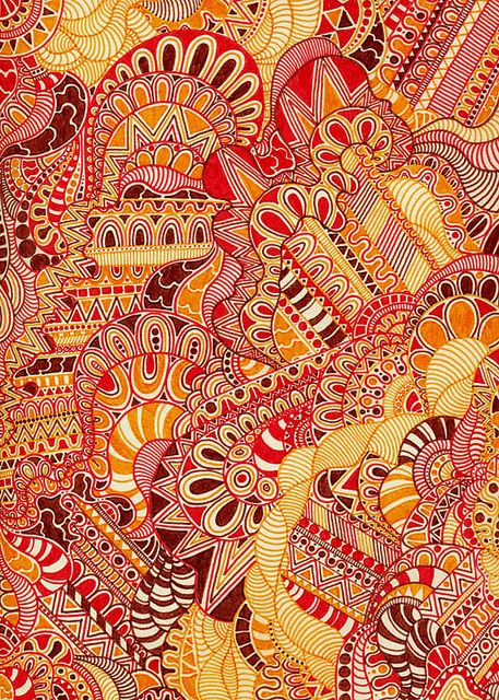 Colored Zentangle