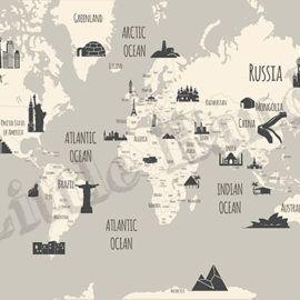 Landmarks World Map