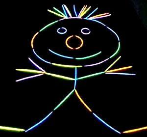 Glow Stick Figure, fun party game.