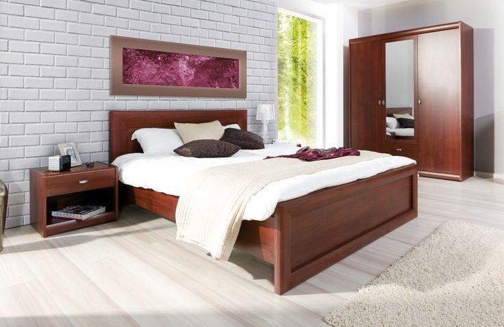 Sypialnia stworzona z pasją, wysokim poczuciem estetyki i ergonomii. Wielość brył oraz ujmujący, ponadczasowy kolor wiśni primavera pozwala na komfort i luksus aranżowania wnętrza #sypialnia #bedroom #odpoczynek #relaks #relax #meble #furniture #inspiracja