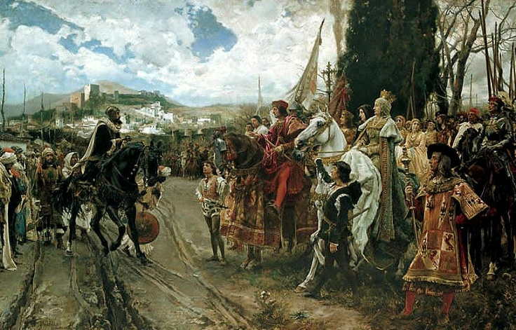 Francisco Pradilla y Ortiz). España. (1848-1921 las capitulaciones de Granada