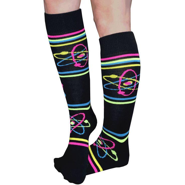 Neon Atomic Neutron Knee Socks