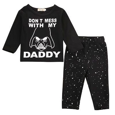 Newborn-Infant-Baby-Boys-Girls-Top-Rompers-Long-Pants-Outfits-Cotton-Clothes-USA