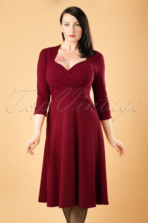 King Louie Isadora Dress Milano Crepe in Cherry Red 19365 20160712 1W
