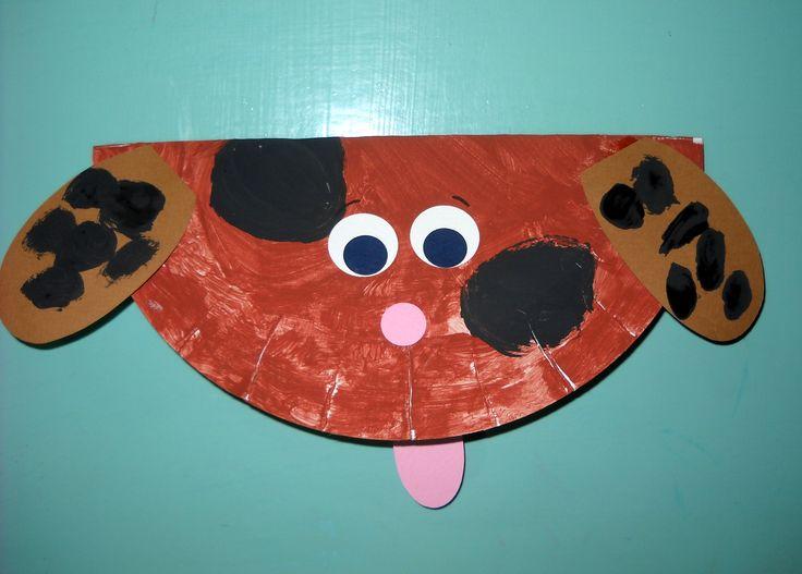 Dog paper plate craft!