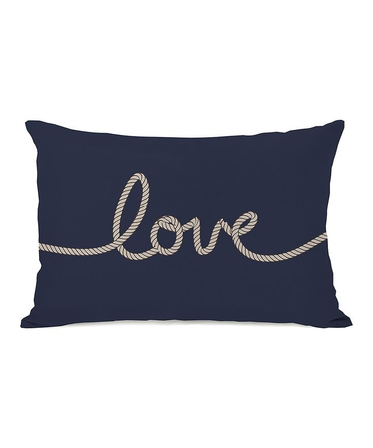 Onebellacasa navy love rope throw pillow zulily for Decorating with throw pillows
