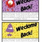 A half sheet label for your student's absent work folders.  This cute label goes on the front of your absent work folder.  Any papers or assignment...