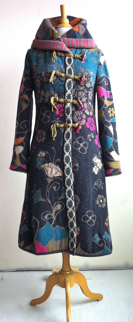 Floral Coat with Hood - Ivko Knits, Katrin Leblond