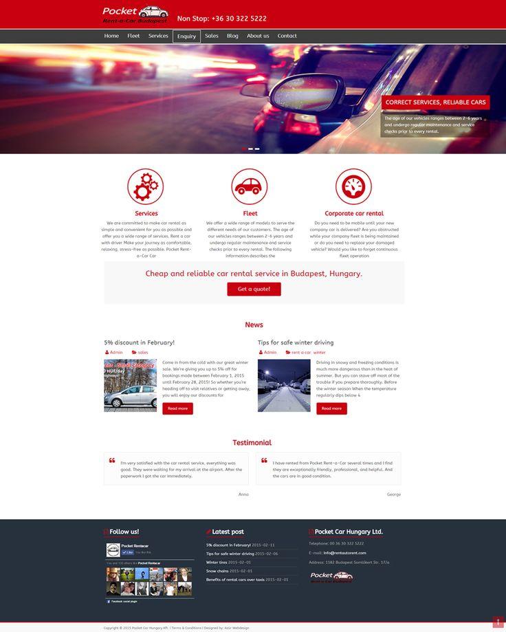 Pocket Car Hungary Kft. weboldal http://rentautorent.com