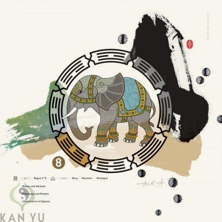 BaGua: Wissen und Weisheit Schutztier: Elefant Jeder Mensch verfügt über Wissen, hat seine Erfahrungen gemacht, hat Erinnerungen, seine geistigen Stärken und lernt täglich hinzu. Dieser Bereich steht auch für: Persönlichkeitsentwicklung, Weisheit, Selbstkultivierung, Gelehrsamkeit, innere Erkenntnis, Ausbildung, Planung Die BaGua Zone entspricht dem Element: Erde Himmelsrichtung: Nordosten (chin. KEN) Diese Organe können beeinflusst werden: Milz, Muskel, …