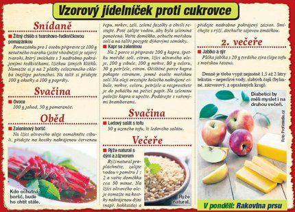 Vzorový jídelníček proti cukrovce