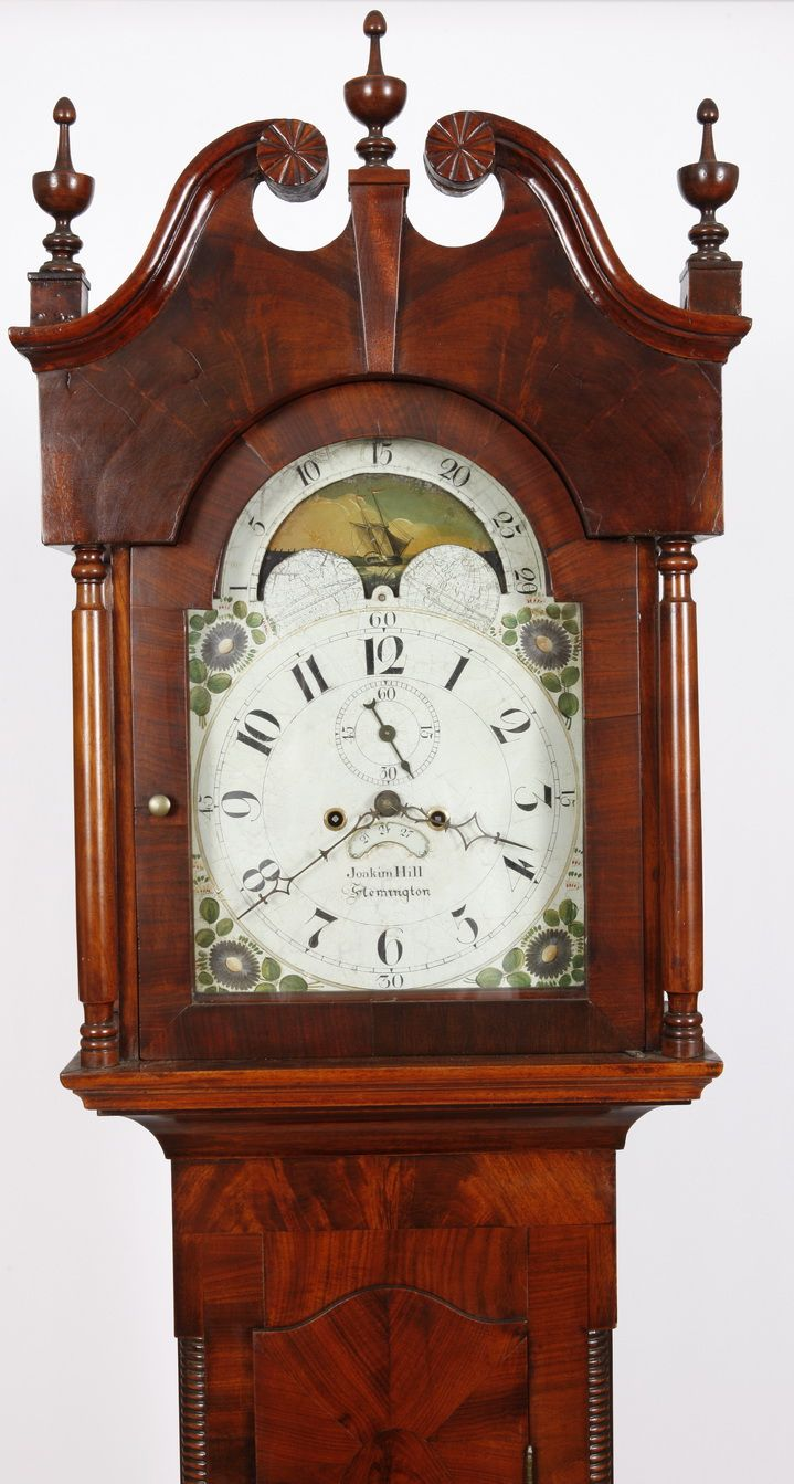 Joakim Hill Flemington NJ Tall Case Clock  Adams Brown Co