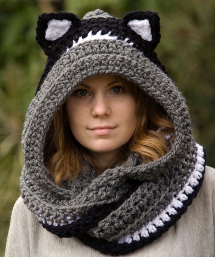 Crochet Animal Scoodie                                                                                                                                                                                 More